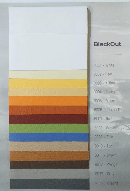 Tkaniny podgumowane Black Out