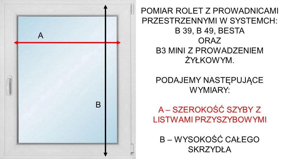 Instrukcja pomiaru rolet system Besta B3 mini B39 B49