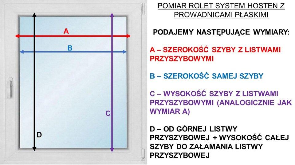 Instrukcja pomiaru rolet system Hosten