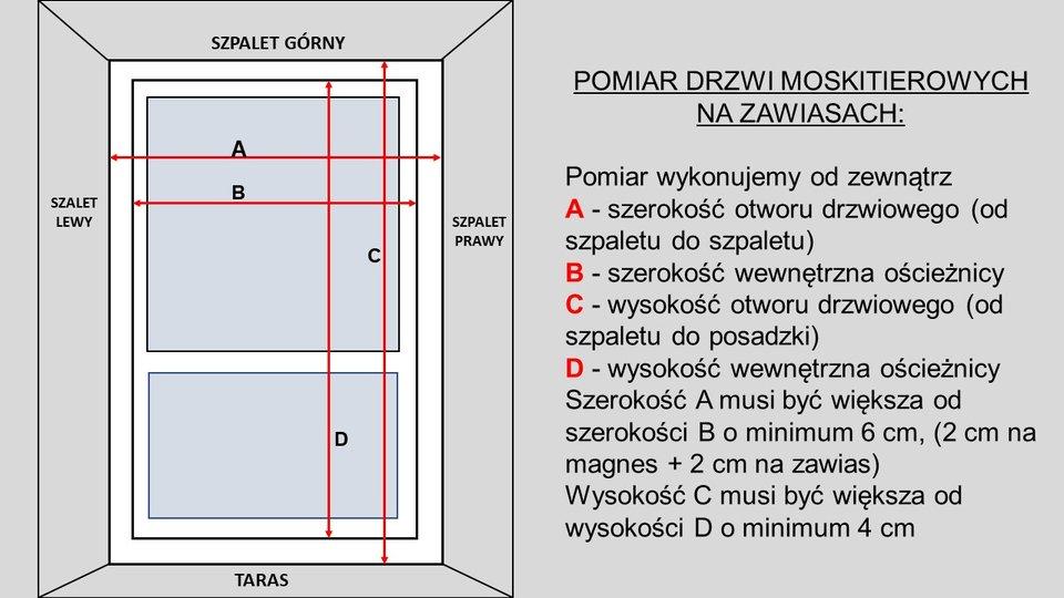 Pomiar moskitiery drzwiowej