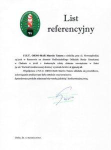Referencje Nadbużański Oddział Straży Granicznej wChełmie