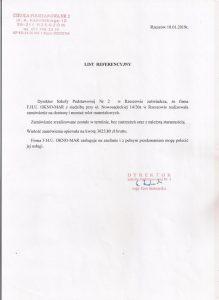 Referencje Szkoła Podstawowa nr2 Rzeszów